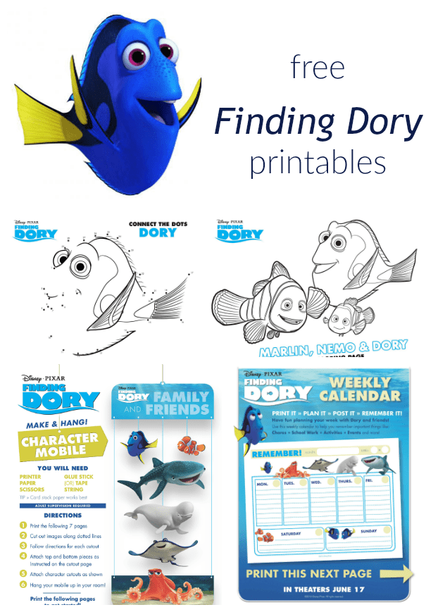 Print These Free Finding Dory Printables For Summer Fun