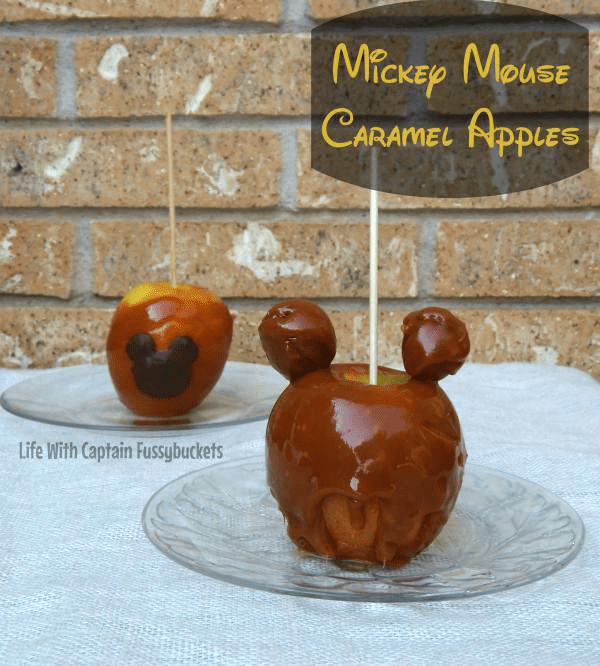Mickey Mouse Caramel Apples