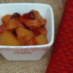 Microwave Cinnamon Apples and Cranberries
