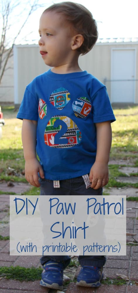 Easy Diy Paw Patrol Shirt No Sew With Free Template