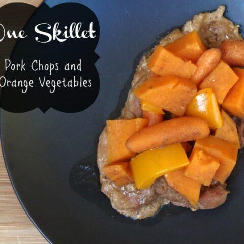One Skillet Pork Chops and Orange Vegetables