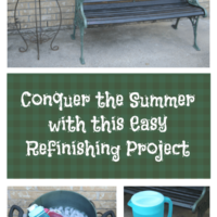 Refinishing and Old Patio Bench DIY