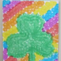Easy Dot Art Shamrock Craft For Kids - St. Patrick's Day