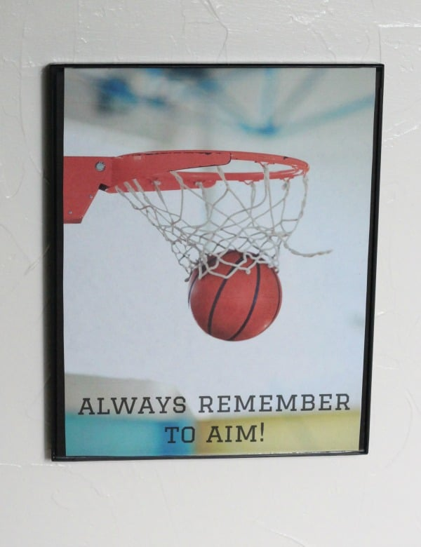 basketball bathroom print