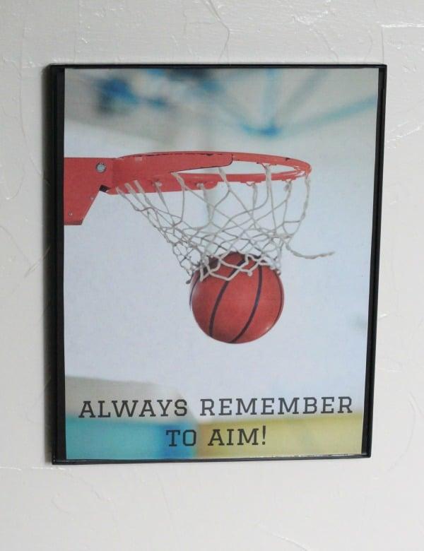 basketball bathroom print