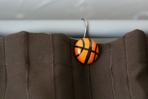 basketball bathroom shower hook