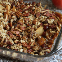 Apple Cranberry Pecan Crumble