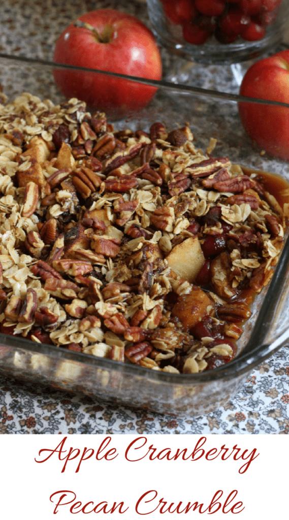 Apple Cranberry Pecan Crumble
