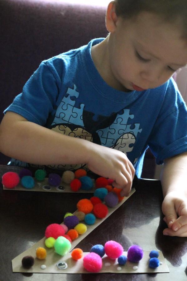 Monster Letters fun Halloween craft for preschoolers