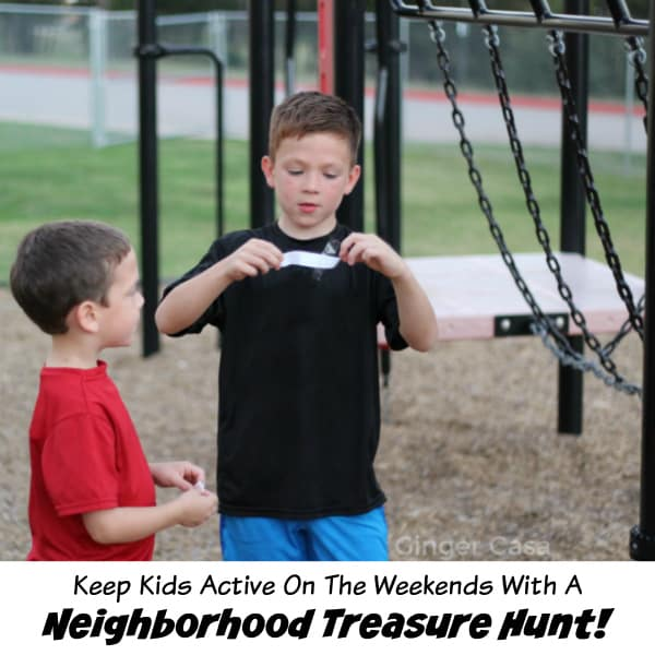 Keep Kids Active On The Weekends With A Treasure Hunt!