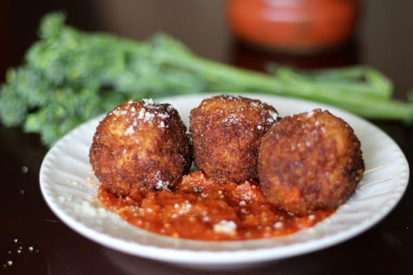 Arancini with Marinara and Broccolini - Create an Italian Inspired Meal