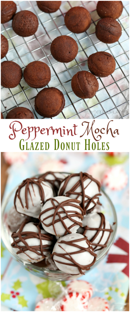 peppermint-mocha-glazed-donut-holes