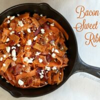Bacon Feta Sweet Potato Ribbons