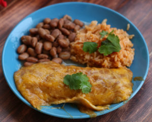 cheese enchiladas beans instant pot mexican rice