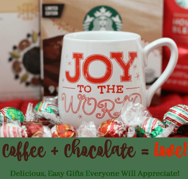 Starbucks coffee and Lindt Chocolates