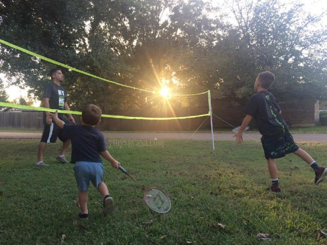 family playing badminton - tips for kids who do not sleep