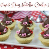 Valentine's Day Nutella Cookie Cups