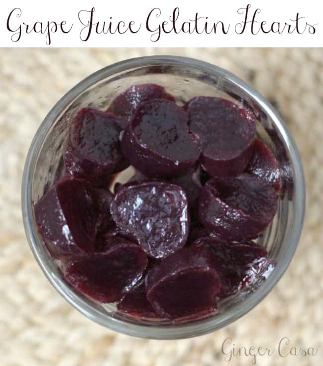 grape juice gelatin hearts - brought to you by Welch's