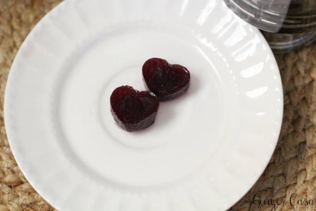 grape juice gelatin hearts
