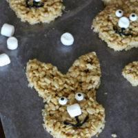 Peanut Butter Rice Krispie Treat Bunnies (With A Sunflower Seed Butter Alternative!)