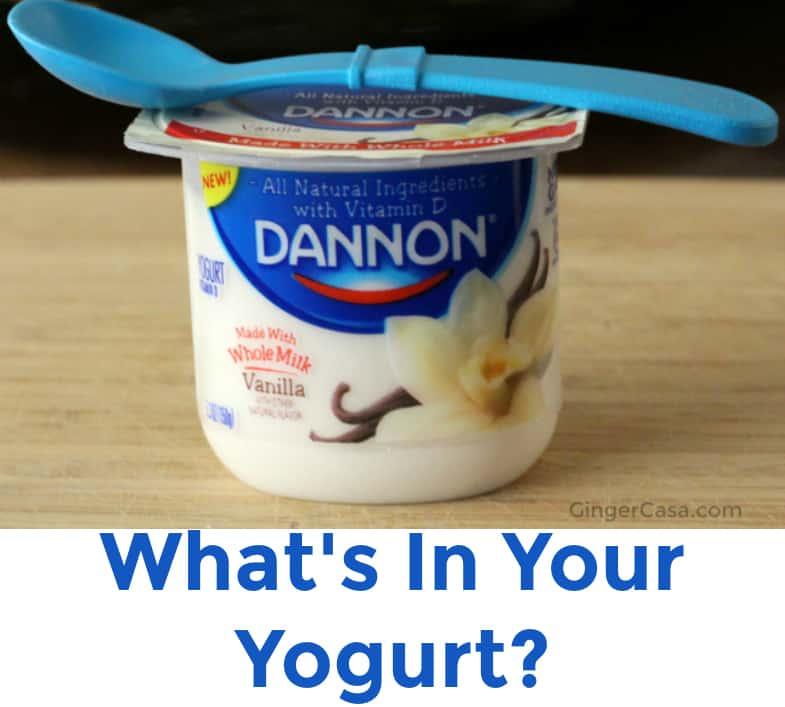 Dannon yogurt