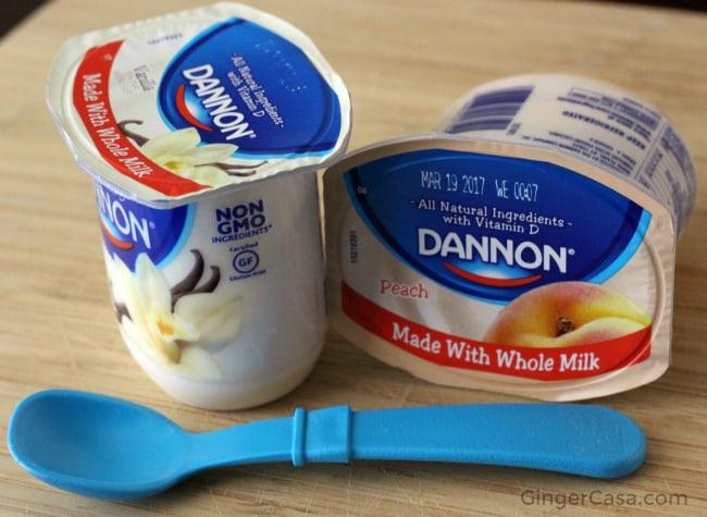 Dannon yogurt - vanilla and peach