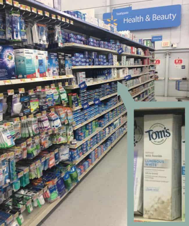walmart toothpaste aisle