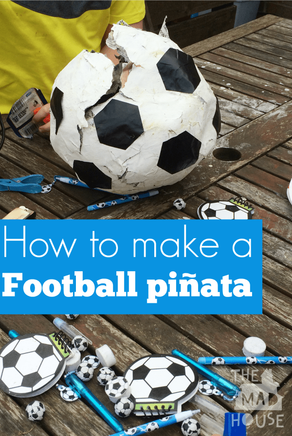 How to make a soccer ball piñata