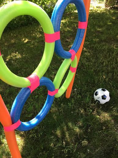 DIY Soccer Camp Using Pool Noodles