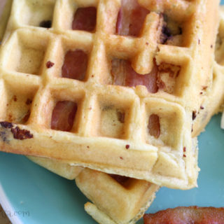 Bacon Waffles With Chocolate Chips & Waffle Eggs