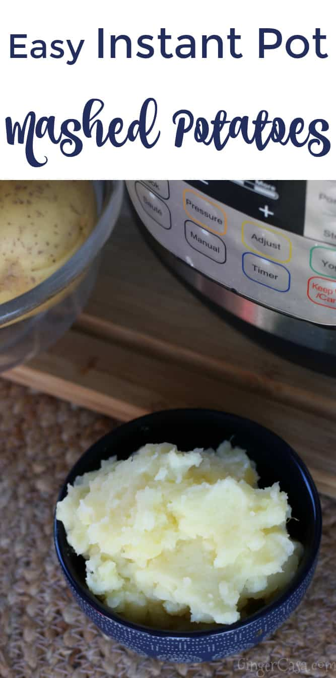 mashed potatoes and corn on the cob in the instant pot