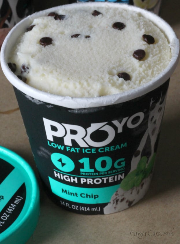 mint chip proyo high protein low fat ice cream