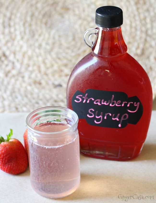 strawberry syrup for strawberry soda