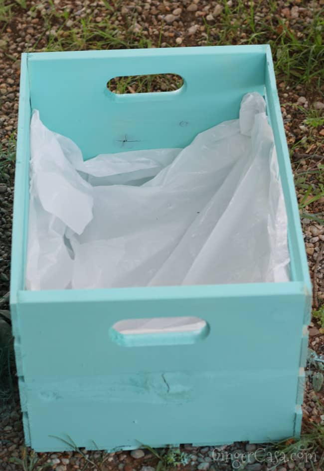 wooden crate plastic