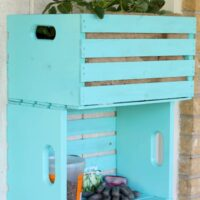 DIY Wooden Crate Planter And Storage