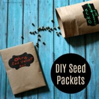 Easy DIY Seed Packets To Save Seeds Until Next Season