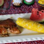 Grilled Teriyaki Corn On The Cob and Pork Ribs For Summer BBQing!