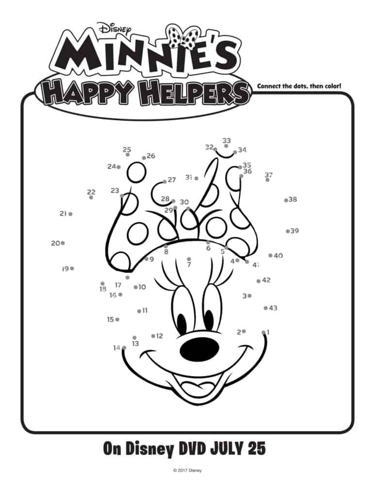 Minnie\'s Happy Helpers Activity Pages - Great Fun For Little Ones!