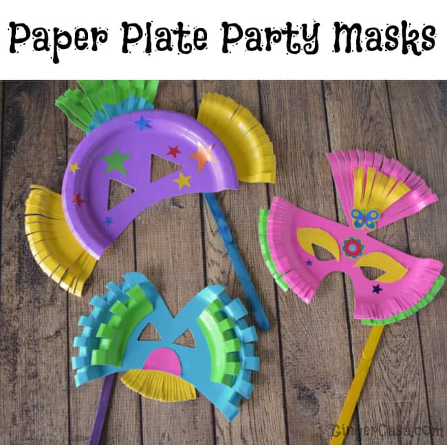 paper plate party masks