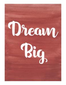 fitness motivation - dream big