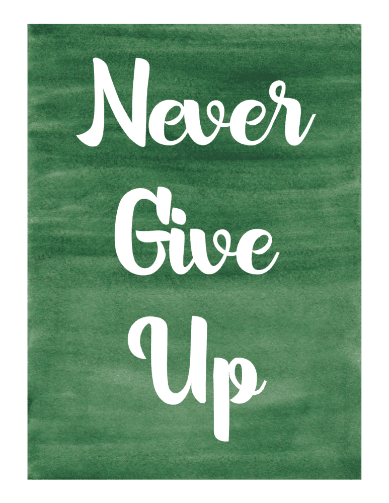 fitness motivation - never give up