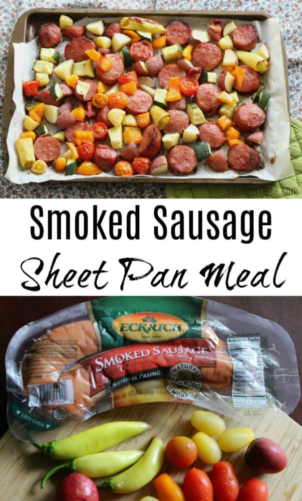 Smoked Sausage Sheet Pan Meal – Get The Kids Helping In The Kitchen!