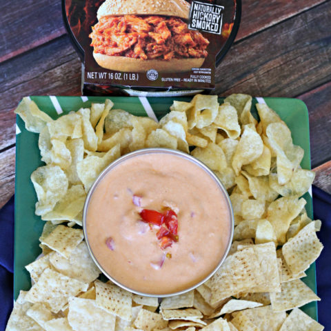 BBQ Chicken Queso - A Delicious Twist For Football Watching Parties!