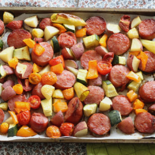 Smoked Sausage Sheet Pan Meal!