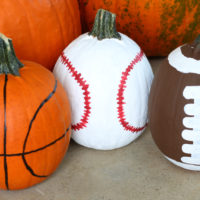 Sports Pumpkins - A Fun Craft For Kids To Decorate For Halloween!
