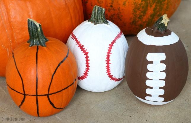 sports pumpkins