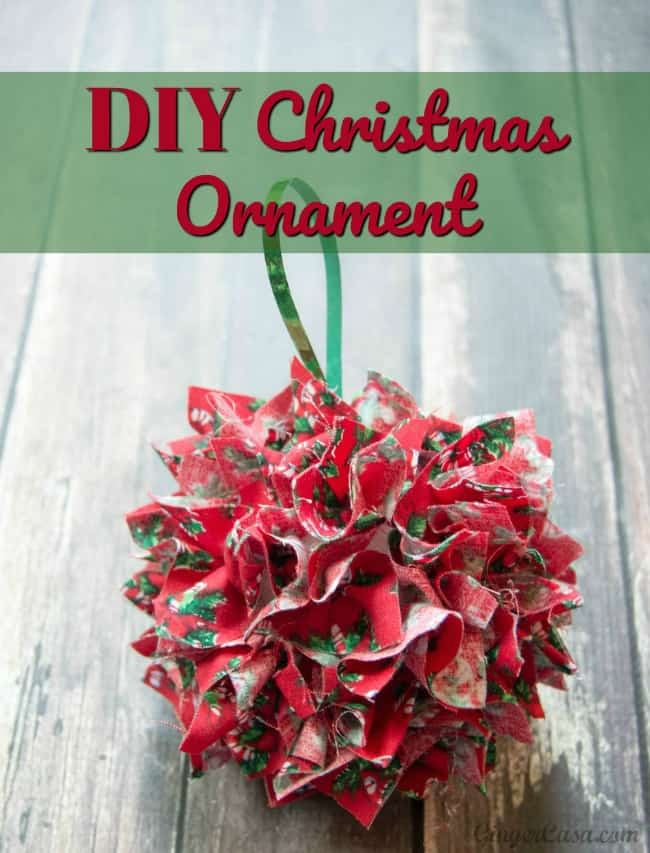 diy fabric christmas ornament great for gifts and kids crafts
