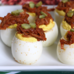 Pulled Pork Deviled Eggs – A Delicious, Winning Appetizer!