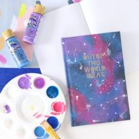 DIY Galaxy Painted Notebook