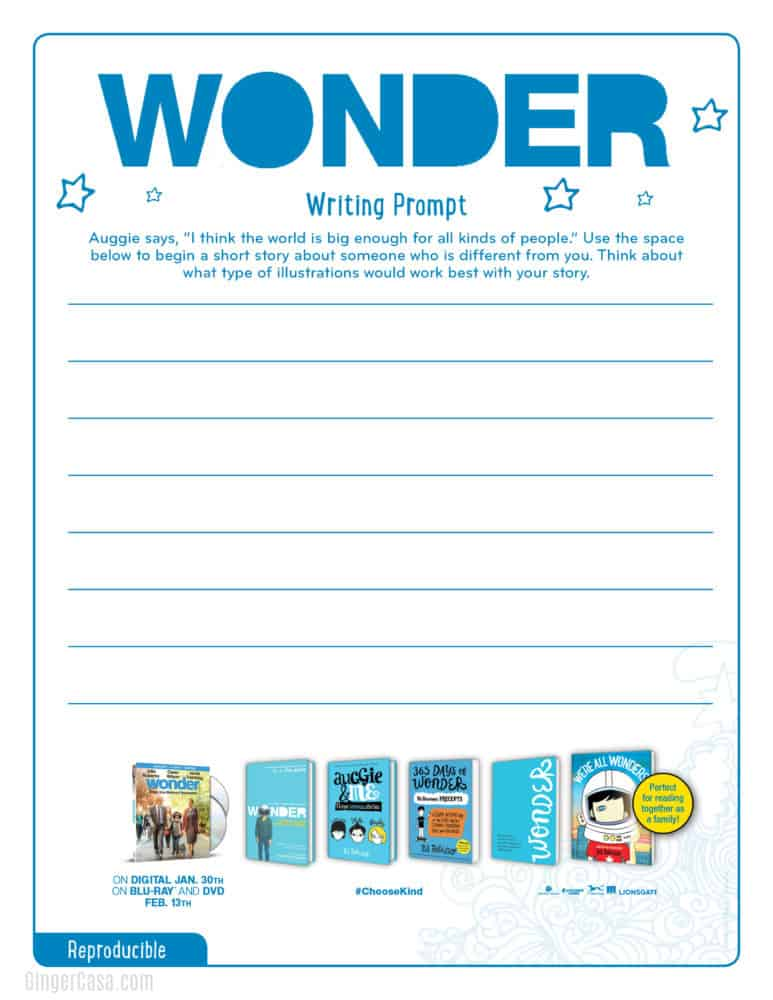 Wonder Writing Prompt